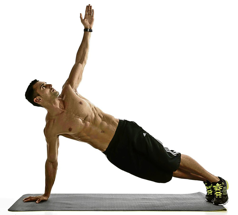 A man doing body weight exercise