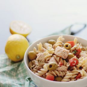 Pasta with tuna, muscle building food recipe