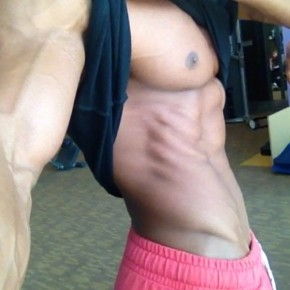 Johnny Starr showing abs