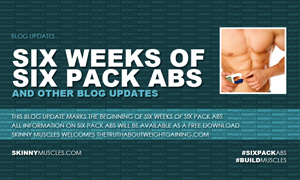 Six weeks of six pack abs and other blog updates