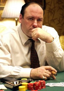Tony Soprano playing poker