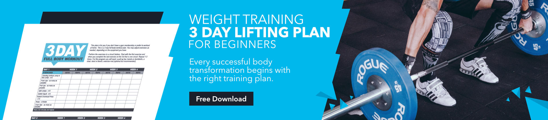 3 day weight lifting plan, weight lifting for beginners, skinny muscles, fitness blog