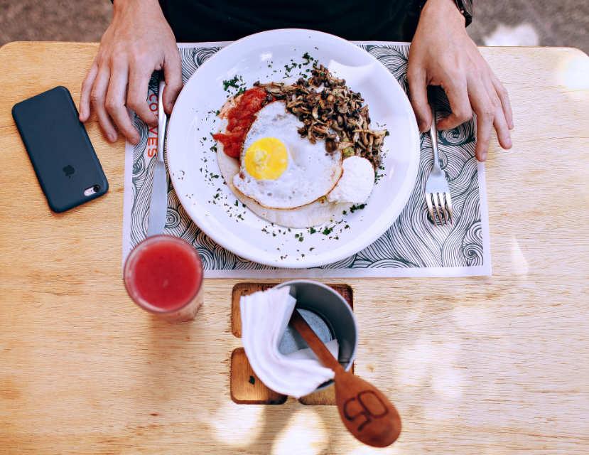 skinny full english breakfast, six pack abs
