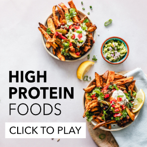 High protein foods for lean muscles and fat loss