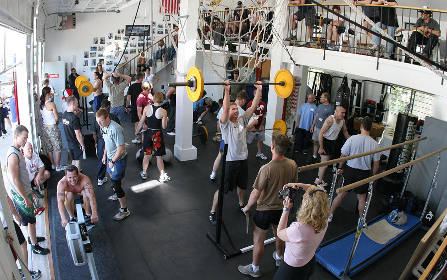 A mass crossfit workout